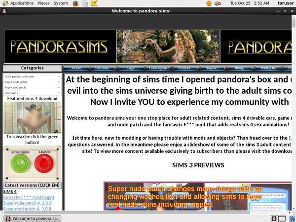 Pandora Sims Free Trial Price