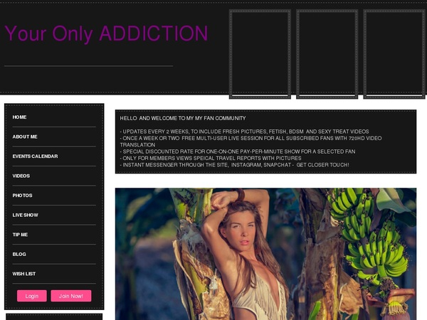 Members Your Only ADDICTION